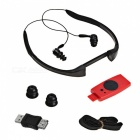 T-21 Desporto recarregável Waterproof In-Ear Headphone MP3 Player w / rádio FM - vermelho + preto (8GB)