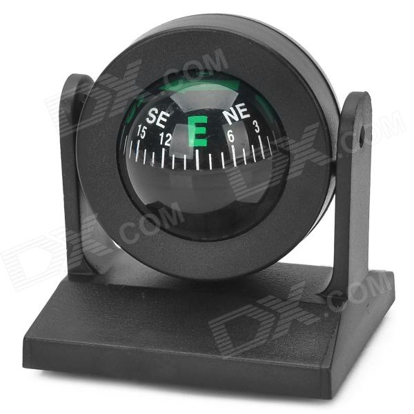 Adjusting Ball Style Car Compass - Black
