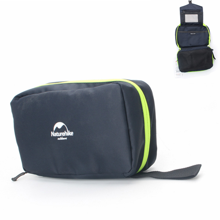 NatureHike Big Capacity Nylon Travel Camping Wash Toilet Bag - Navy Blue