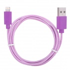 NL-5 Lightning 8-Pin Male to USB Male Data Charging Cable for iPhone 5 / iPad 4 - Purple