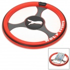 Car Steering Wheel Shaped Anti-Slip Silicone Mat Pad for Cell Phones - Red + Black + White