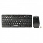 Motospeed G9000 2.4G Wireless 78-Key Keyboard w/ Film + 1000dpi Wireless Mouse Set - Back (2 x AAA)