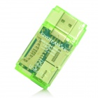 Mini USB 2.0 Multi-slot SD/Mini SD/TF/MMC/RS-MMC/M2 Card Reader (Green)