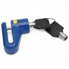 YJ-1 Anti-Theft Motorcycle Iron Car Wheel Lock - Blue