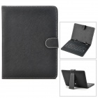 "USB Wired Russian/English Keyboad w/ PU Leather Case / Stand for 8"" Android Tablet PC - Black"