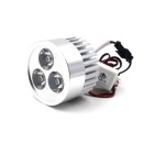 W2 80V 9W 700lm 6000k 3 LEDs Universal Water-resisting White Spotlight for Motorcycle - Silver
