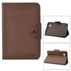 Protective Fiber Leather Case for Samsung P3100 - Coffee
