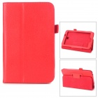 Stylish Protective PU Leather Case for Samsung Galaxy Tab 3 P3200 - Red