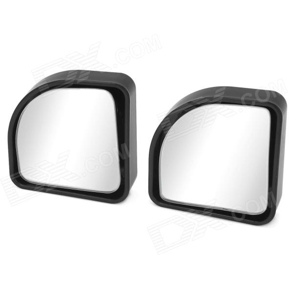 3R-015 Car Wide Angle Adjustable Blind Spot Rearview Mirrors - Black + Silver (2 PCS)