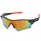 CARSHIRO 7108 Outdoor Sport Protection Polarized UV400 Sunglasses - Black + Red