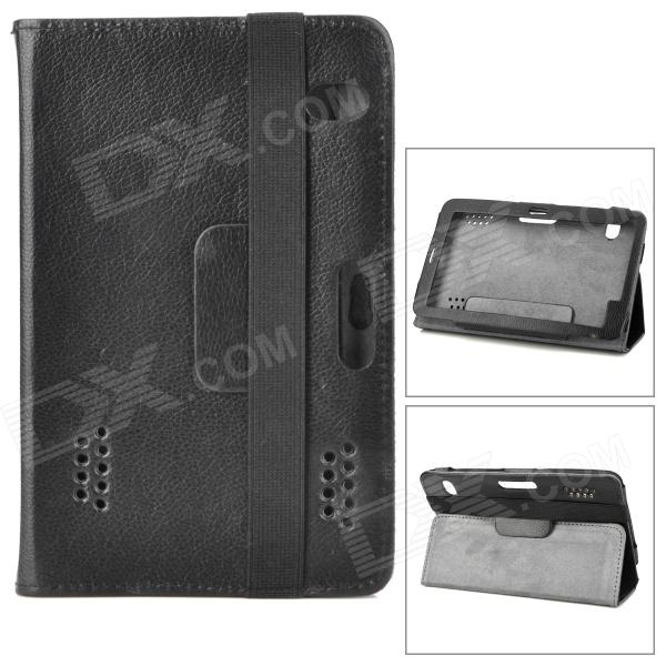 Lychee Pattern Protective PU Leather Case w/ Ventilation Holes for 7