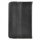"Lychee Pattern Protective PU Leather Case w/ Ventilation Holes for 7"" Tablet PCs - Black"