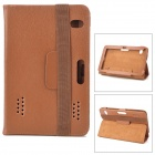 "Lychee Pattern Protective PU Leather Case w/ Ventilation Holes for 7"" Tablet PCs - Brown"