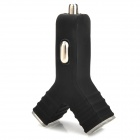 Y Type Dual USB Car Cigarette Lighter Charger (5V 2A)