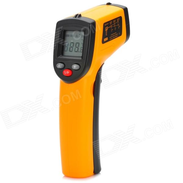 BENETECH GM320 1.2 LCD Infrared Temperature Tester ThermometerTemperature Instruments<br>ModelGM320Quantity1 DX.PCM.Model.AttributeModel.UnitForm  ColorOrangeMaterialPlasticScreen Size1.2 DX.PCM.Model.AttributeModel.UnitCelsius Range-50C~330CFahrenheit Range-58~626F DX.PCM.Model.AttributeModel.UnitAuto Power OffYesOther FeaturesGreat for temperature testingPacking List1 x Infrared thermometer2 x AAA batteries 1 x Chinese user manual<br>