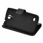Protective PU Wallet Case for Samsung Galaxy S4 Mini / i9190 - Black