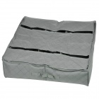 Bamboo Charcoal Soft Folding 6-Compartment Storage Box for Clothes / Shoes - Grey