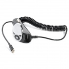 HQD-006A 2400mA Output Car Charger w/ Lightning Cable + Extra Female USB Output - Black + Silver