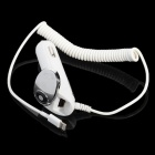HQD-006A 2400mA Output Car Charger w/ Lightning Cable + Extra Female USB Output - White + Silver