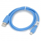USB Male to Micro USB Male Smart Phones Data Cable - Blue (90cm)