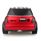 Car Model Style Mini Reproductor MP3 Bass 2 Altavoz de canal w / TF / USB / FM - Rojo + Negro