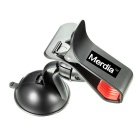 Merdia QPYP04T2 Car Clip Mount Stand Cradle Suction Cup Holder for Iphone / Samsung + More - Black