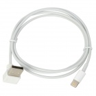 Lightning 8-Pin Male to Right Angle USB Male Data Charging Cable for iPhone 5 / iPad Mini (1m)