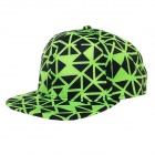 TIANFENG Fashionable Geometry Baseball Cap Hat - Black + Green