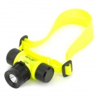 XQ-5 CREE XP-E Q5 150lm 4-Mode White Diving Headlamp - Black + Fluorescent Yellow (1 x 18650)