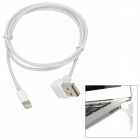 Right Angle USB Male to Lightning 8-Pin Male Data Cable for iPad Mini / iPhone 5 - White (1m)