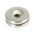 Round Strong Magnets w/ Hole - Silver (2 PCS)