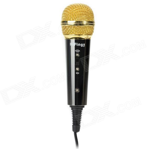Mini Karaoke Capacitive Microphone for iOS / Android / Windows / Mac Device - Black + Golden балансир siweida swd dil 074 50mm 14g 3531041 07