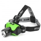 LZZ-6403 CREE XP-E Q5 150lm 3-Mode White Zooming Headlamp - Black + Green (1 x 18650)