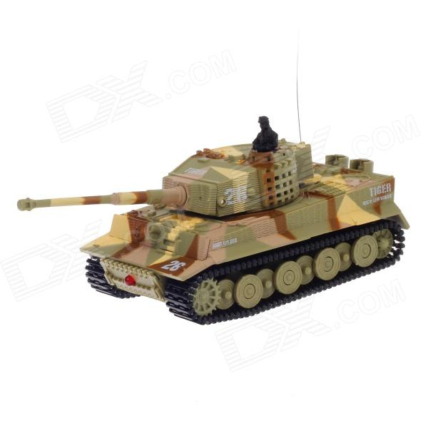 1:72 2.5-Channel Radio Control Battle Tank Model Toy - Army Green + Yellow + Brown (35MHz)
