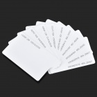 M-013 Door Entrance Guard ID Card - White (10 PCS)
