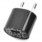 USB EU Plug Power Adapter AC Charger - Black