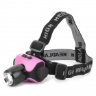 LZZ-6403 CREE XP-E Q5 131lm 3-Mode White Zooming Headlamp - Black + Deep Pink (1 x 18650)