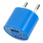 USB EU Plug Power Adapter AC Charger - Blue
