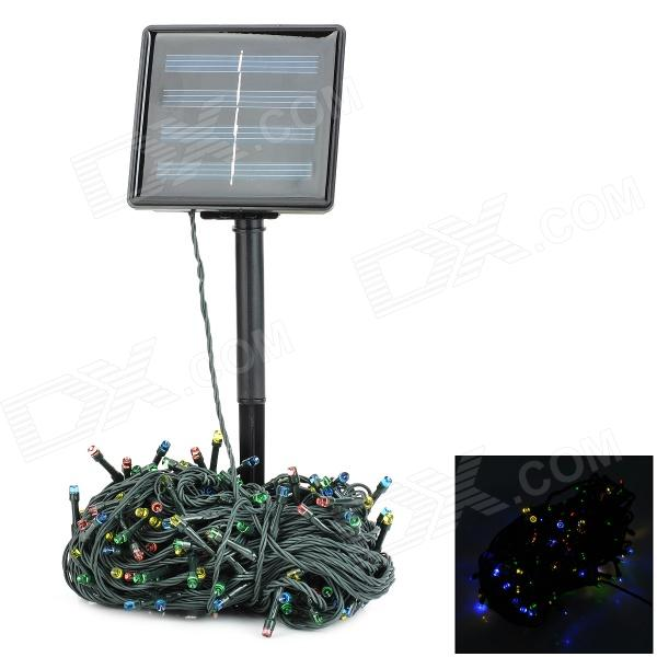 SL200 500lm E14 200 Colorful LEDs Solar Energy Powered Decorative Lamp - Black