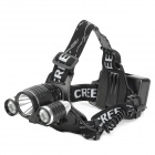 LL-6633 1 x CREE XM-L T6 + 2 x XP-E Q5 500lm 3-Mode White Bicycle Headlamp - Black (1 / 2 x 18650)