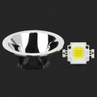 Epileds JZ-10W-W-FX 10W 800lm 6500K LED White Emitter w/ Electroplating Reflector - White + Silver