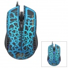 RAJFOO G7 Wired USB 2,0 800/1200/1600 / 2400dpi Optical Gaming Mouse - Schwarz + Blau