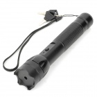 006 5mW 532nm Green Dot Laser Flashlight Pointer - Black (1 x 18650)
