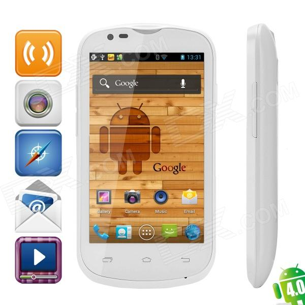 "Citric A209W Dual-SIM Android 4.0 WCDMA Bar Phone w/ 4.0"" IPS, Wi-Fi and GPS - White"