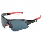 CARSHIRO 9384 Cycling Polarized UV400 Protection Sunglasses - Black + Red