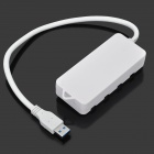 High Speed 4-Port USB 3.0 Hub w/ Switches / LED Indicators - White