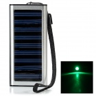 Universal 1350mAh Solar Power Battery Charger w/ Adapters for iPhone + Samsung - Silver + Black