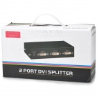 Mt-Viki MT-DV2H Aluminum Alloy 1-DVI IN to 2-DVI OUT Splitter - Black