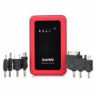 MAIWO KM001 2500mAh Portable Mobile Power Charge w/ 7 Adapters - Black + Red