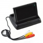 "CHeeRLINK Foldable 4.3"" LCD Camera Vehicle Display Screen - Black (PAL / NTSC / DC 12V)"